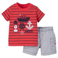 Just One You™Made by Carter's® Newborn Boys' 2 Piece Pant Set - Red/Blue Multi : Target