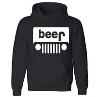 "Zexpa Apparelâ""¢ Beer Jeep Unisex Hoodie Funny Collage Party Dope Swag Design Hooded Sweatshirt"