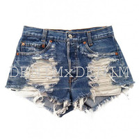 Women's Vintage Distressed Stone Dreamer Cut-Off Shorts