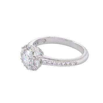 Womens Ring .925 Sterling Silver 6mm CZ 3/4ct AAA Grade Cubic Zirconia