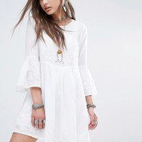 Denim & Supply By Ralph Lauren Bell Sleeve Summer Tunic With Embrodery at asos.com