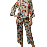 Two-Piece Dynasty Printed Pajamas, Size: