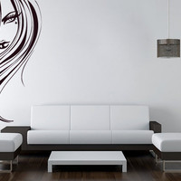 Vinyl Silhouette Wall Decal - Mystery Woman