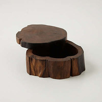 Anthropologie - Handcrafted Teakwood Jewelry Box