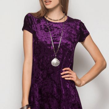 Velvet Shift Dress