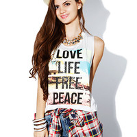 Love Life Graphic Top
