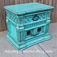 Bayside Blue Night Stand/ End Table /Accent Table /TV Cabinet/ Living Room Storage/ Bedroom Side Table