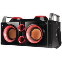 Qfx Rechargeable Bluetooth Party Pa Boombox (red)