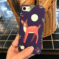 Original Deer Moon Case for iPhone 7 7Plus & iPhone se 5s 6 6 Plus Best Protection Cover +Gift Box