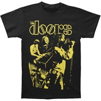 Doors Men's  Live Neon Yellow T-shirt Black