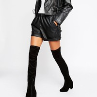 ASOS KATCH UP Heeled Over The Knee Boots