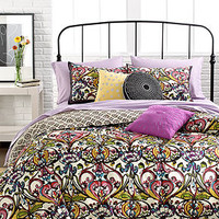 Mosaic Damask 3 Piece Duvet Cover Sets - Bed in a Bag - Bed & Bath - Macy's