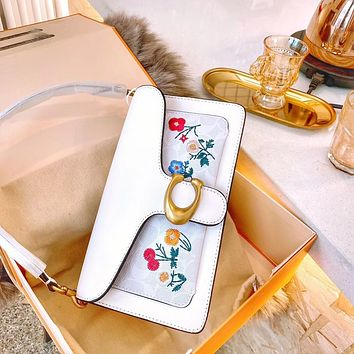 COACh Tabby 2020 Embroidered Dionysus Bag Fairy Face Value White