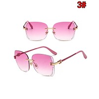 FENDI Fashion Women Chic Diamond Shades Eyeglasses Glasses Sunglasses 3#