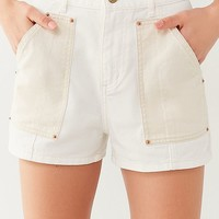 UO Winward High-Rise Two-Tone Denim Short | Urban Outfitters