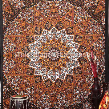 Psychedelic Hippie Star Tapestries , Modern Tapestry ,Sun and Moon Tapestry,bohemian Mandala tapestries,Throw Bedspread Queen Bed Dorm Decor
