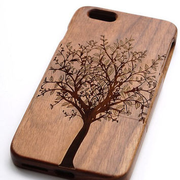 Tree  design wood iPhone 6 Case Wooden Phone Covers for iPhone 6 iphone 5/5s/5c iPhone 4/4s Samsung Galaxy S3/S4/S5/S6 Galaxy Note2/3/4 case