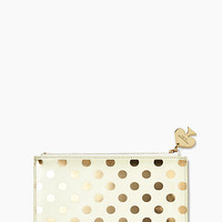 Kate Spade Gold Dots Pencil Pouch Set Gold Dots ONE