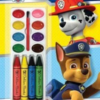 Ruff-Ruff Rescues! (Paw Patrol): Ruff-Ruff Rescues! Color and Paint Plus Stickers (Paw Patrol)