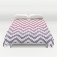 Duvet Cover - 4 different sizes, Without Insert, Bedroom, Home decor, Chevron, Classic, Boho, Hippie, With, Without, Shams, Purple, Pink