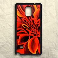 Red Dahlia Flowers Samsung Galaxy Note 3 Case
