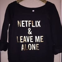 Netflix & Leave Me Alone - Ruffles with Love - Off the Shoulder Sweatshirt - Womens Clothing - RWL