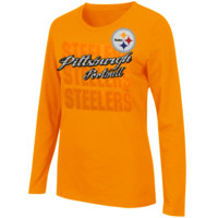 Pittsburgh Steelers Majestic Women's Gamer Gear Long Sleeve T-Shirt – Gold