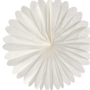Large Snow White Hanging Paper Fan