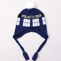 Doctor Who Tardis Knitted Beanie