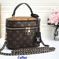 Louis Vuitton Women Makeup Bag Handbag Storage bag Crossbody Bag Multi-purpose bags Monogram Coffee