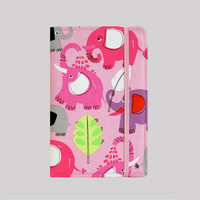 Kindle Cover Hardcover Kindle Case Nook Cover Nexus 7 Cover Nexus 7 Case Custom eReader Cover Pink Elephants
