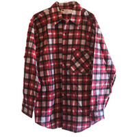 Vintage 60s Sears One Sided Flannel Size Large