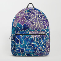 Floral Abstract 34 Backpack by klaraacel