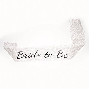 Bride to Be Sash - White Lace