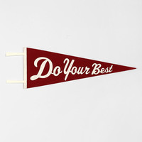 Three Potato Four Do Your Best Wall Pennant - Urban Outfitters