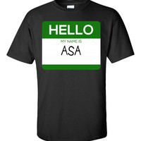 Hello My Name Is ASA v1-Unisex Tshirt