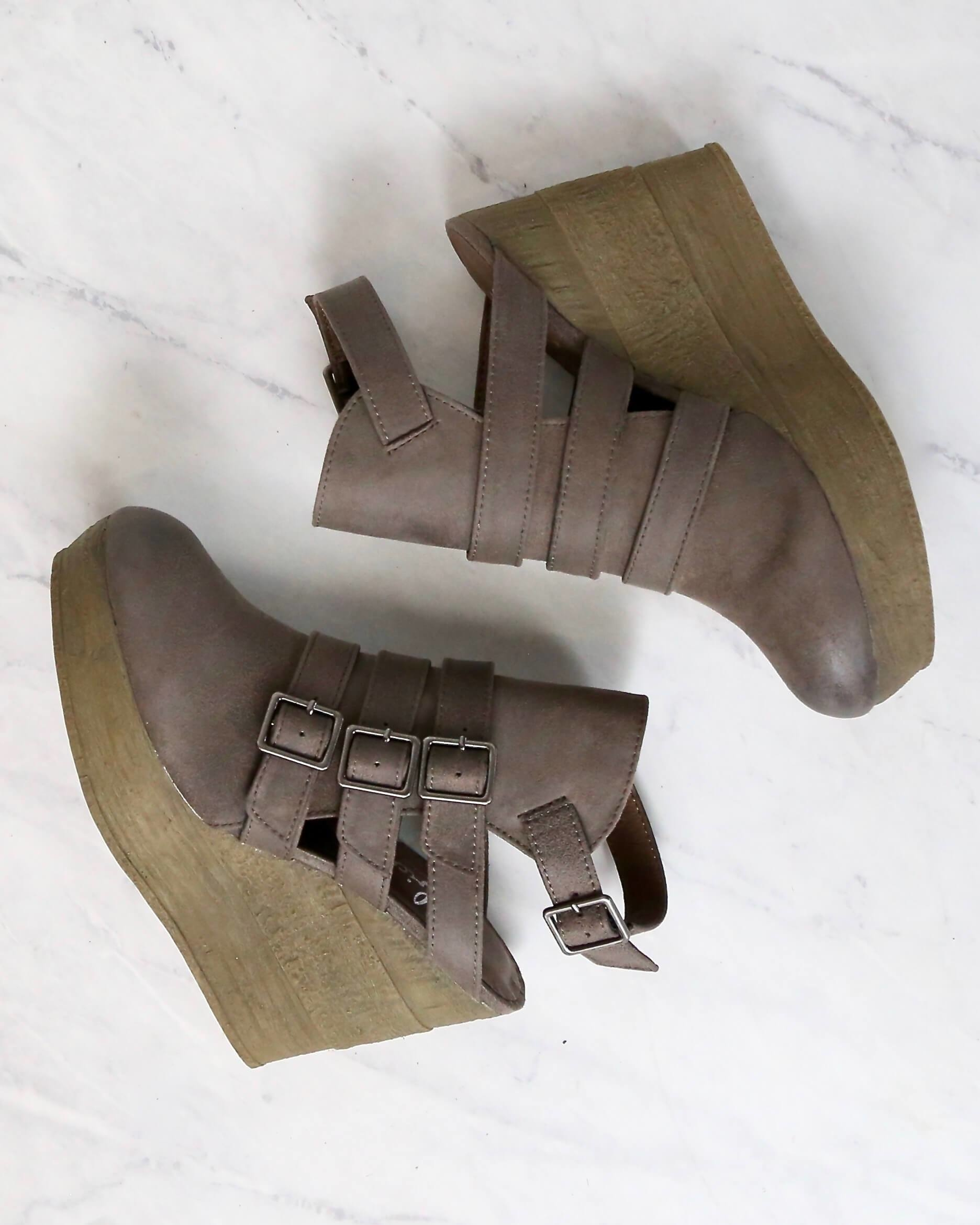 Image of Final Sale - Sbicca - Gomez Women's Ankle Bootie in Taupe