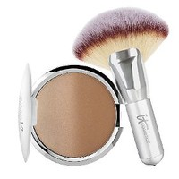 It Cosmetics CC Anti-Aging Ombre Radiance Bronzer w/ Luxe Mega Fan Brush — QVC.com