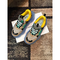 Balenciaga Women's Leather Triple S Air Cushion Sneakers Shoes