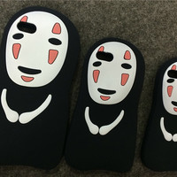 No Face Man Silicone Cover Phone Case for iPhone 5 5s 6 6 Plus Back Cover