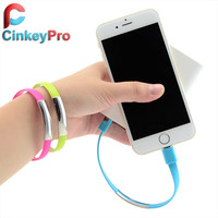 CinkeyPro Bracelet Micro USB Cables Smart Phone Charger data sync 8 pin Charging For iPhone 7 SE 5 5S 6 6S Plus iPad Air mini 3