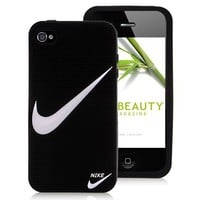 "Nike Logo Silicone Case Cover for iPhone 4 and iPhone 4S - ""Just Do It"""