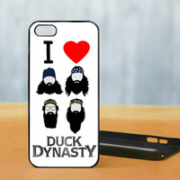 I LOVE  Duck Dynasty - Photo on Hard Cover For iPhone 4/4S, iPhone 5 Case, And Select an Option For Colour Choice