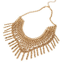 FOREVER 21 Linked Chain Statement Necklace Antic Gold One