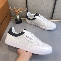 lv louis vuitton men fashion boots fashionable casual leather breathable sneakers running shoes 632
