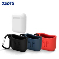 XSDTS For Apple Airpods Silicone Case Sleeve For AirPods Charging Case Cover Free Lanyard For Airpods Earphone Case
