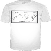 Misha, Jensen And Jared Signature Supernatural T-shirt