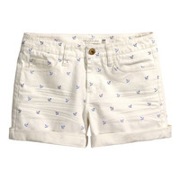 H&M Patterned Twill Shorts $24.95