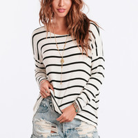 Opposites Attract Striped Top