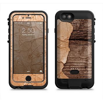 The Vintage Paper-Wrapped Wood Planks  iPhone 6/6s Plus LifeProof Fre POWER Case Skin Kit